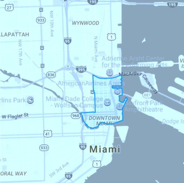 Downtown Miami-map priveast