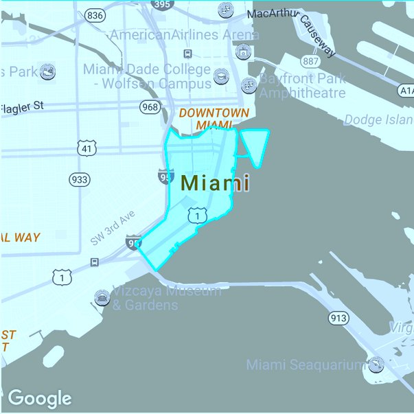 Brickell-map miami priveast